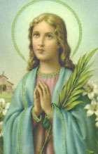 Mais um desenho da santa rezando