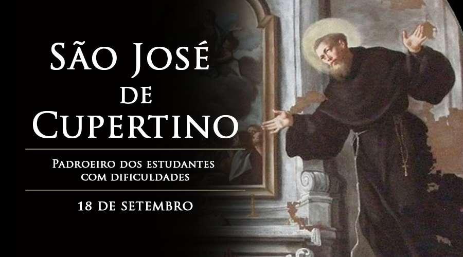 Hoje a Igreja celebra São José de Cupertino, padroeiro dos estudantes com  dificuldades