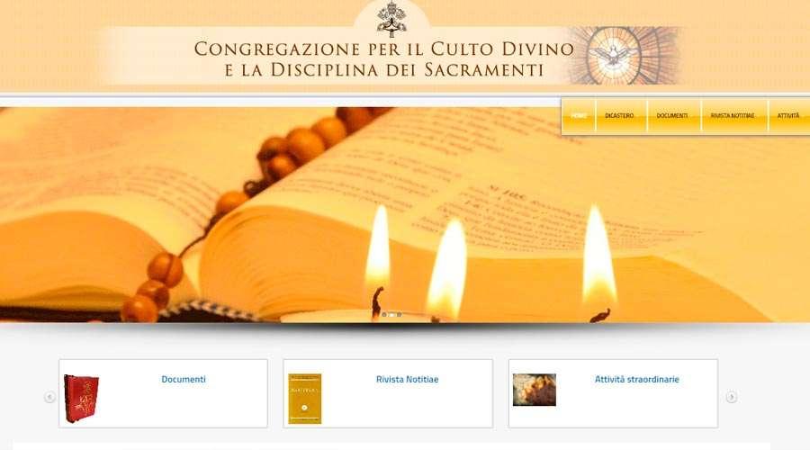 Congregação para o Culto Divino lança novo site