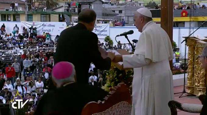 ÍNTEGRA: Este é o discurso que o Papa Francisco não leu no Santuário Mariano de El Quinche, no Equador
