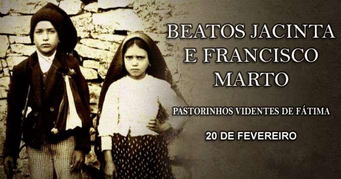 Hoje a Igreja celebra a Festa dos Beatos Francisco e Jacinta, videntes de Nossa Senhora de Fátima