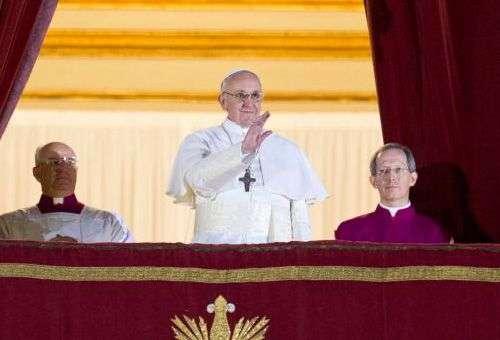 Papa Francisco depois da sua eleição. Foto: Grupo ACI