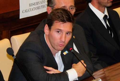 Lionel Messi na conferência de imprensa em Roma (foto Grupo ACI)