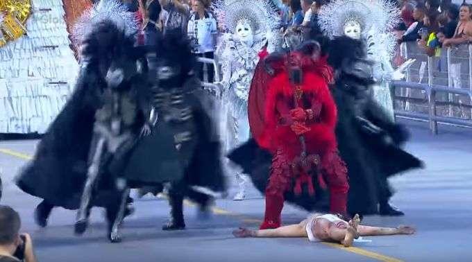 Resultado de imagem para diabo cristo carnaval gaviões