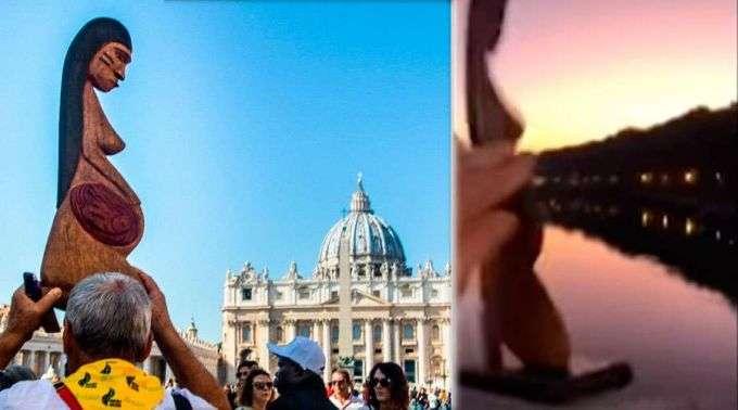 Resultado de imagem para católicos roubam imagem igreja de roma e lançam no rio