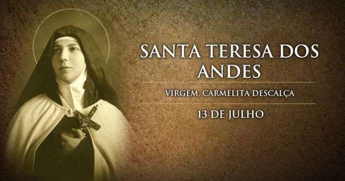 Hoje é Celebrada Santa Teresa Dos Andes Padroeira Dos Jovens Da