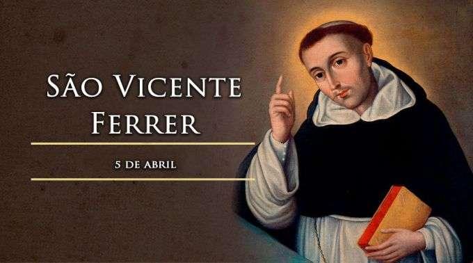 0baacc25555 Hoje é celebrado São Vicente Ferrer, que ajudava os casais em crise com  água benta
