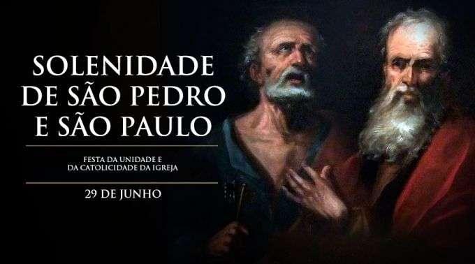 Hoje A Igreja Vive A Solenidade De São Pedro E São Paulo